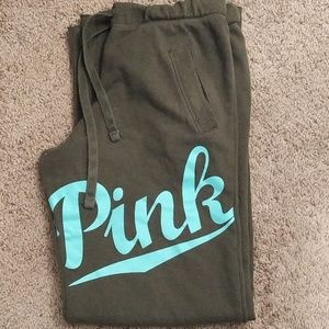 Pink by VS sweatpants army green size S